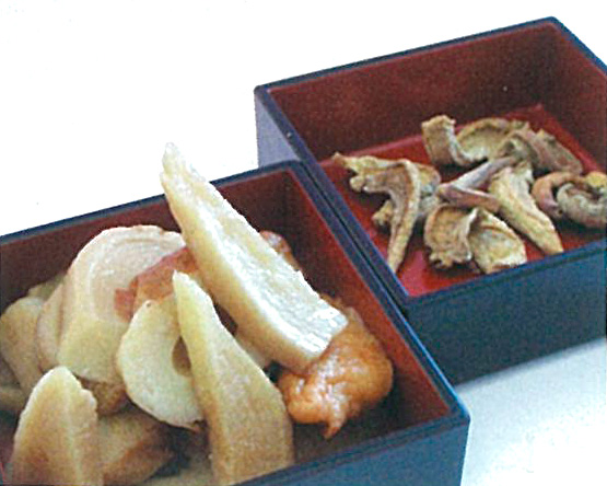 野沢菜の蕪干しの煮付け